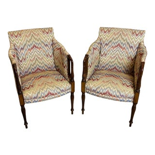 Pair Gorgeous Mahogany Chairs Hickory Southwood Queen Ann For Sale
