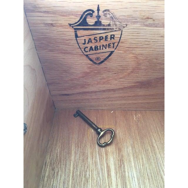 Jasper Furniture Lighted Maple Secretary Desk For Sale - Image 10 of 11