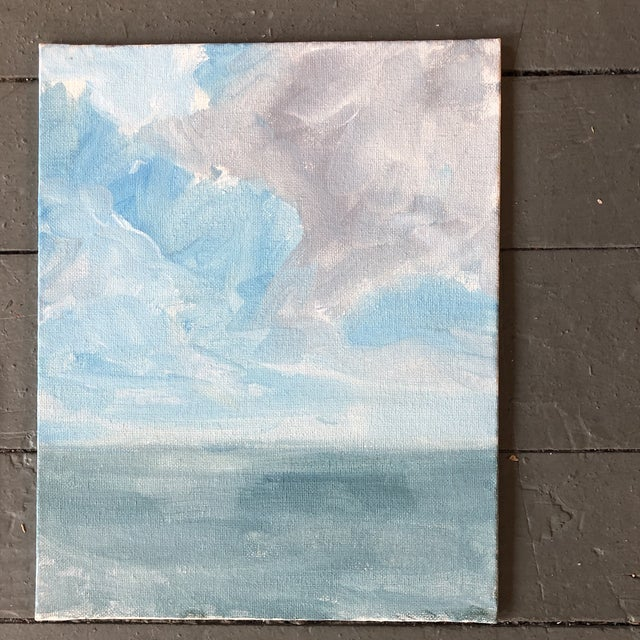Contemporary Gallery Wall Collection 3 Contemporary Impressionist Seascape Paintings Set of 3 For Sale - Image 3 of 6