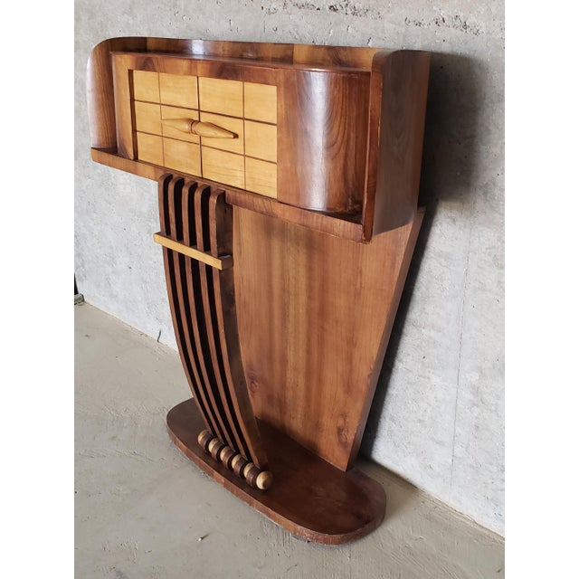 1930s French Art Deco Streamline Moderne Console For Sale In Austin - Image 6 of 12