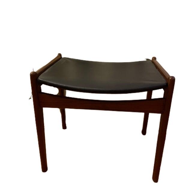 Wood 1960's Rare Danish Modern Footstool For Sale - Image 7 of 12