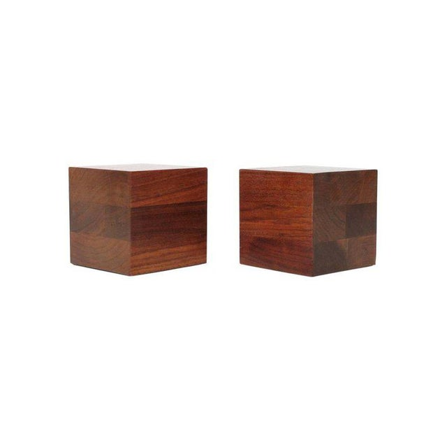 Marshall Studios Walnut Martz Bookends For Sale - Image 4 of 11