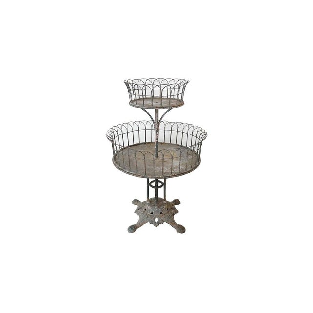 Two-Tiered Iron Planter For Sale - Image 9 of 9