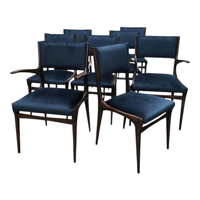 Carlo de Carli Chairs Set of Eight Including Two Chairs with Armrest 1951 For Sale