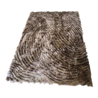 Hand-Woven Modern Wool Rug - 6′6″ × 9′ For Sale