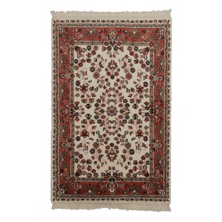 Hand Knotted Wool Persian Style Rug For Sale