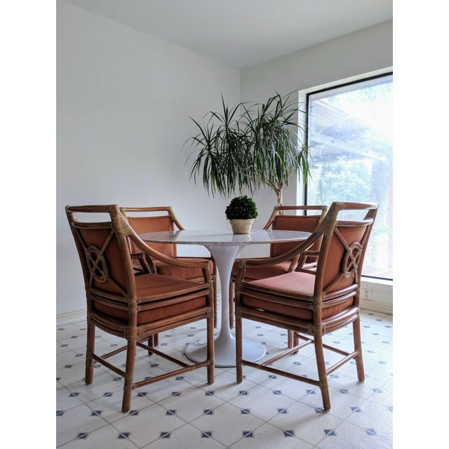 These original McGuire target back rattan chairs are amazing, chic and classic.