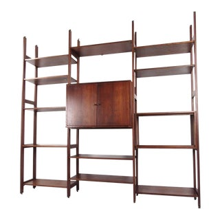 Mid-Century Modern Bookshelf or Wall Unit For Sale