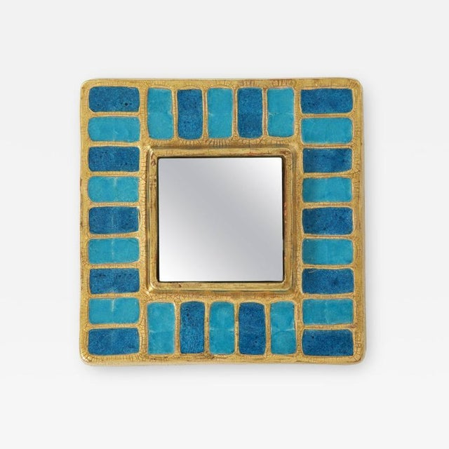 Blue Francis Lembo Mirror For Sale - Image 8 of 8