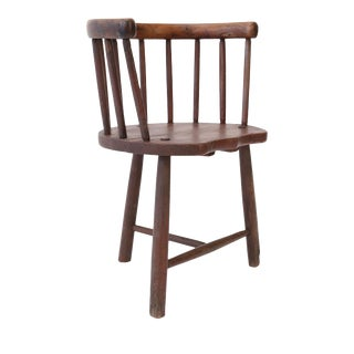 Scottish Horseshoe Back Chair For Sale