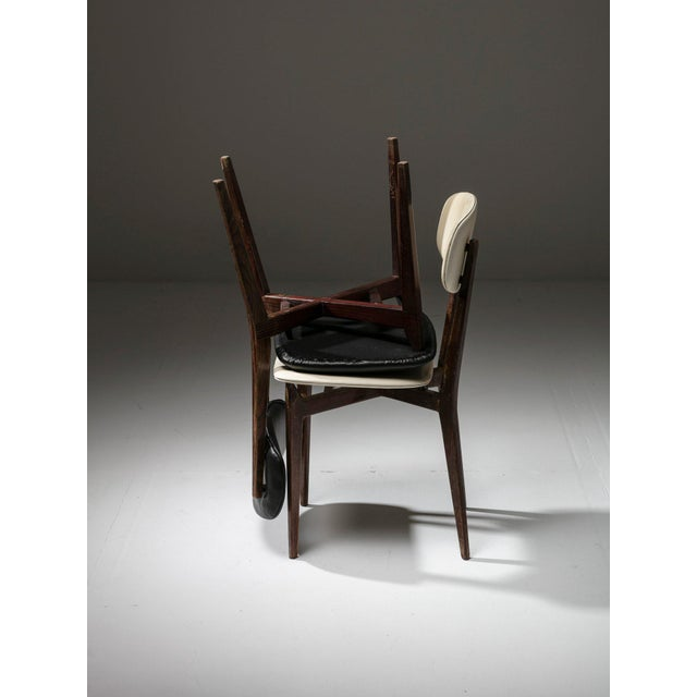 Mid-Century Modern Pair of Chairs Modrl 691 by Ico Parisi for Cassina For Sale - Image 3 of 6