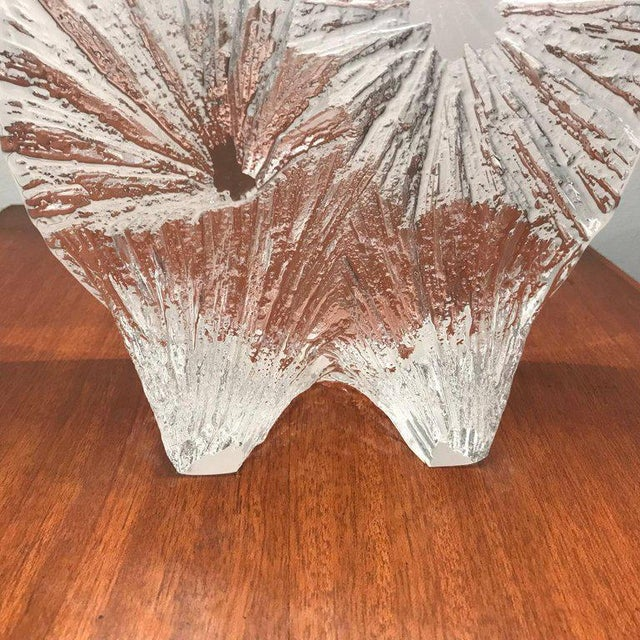 Glass 1960 Daum Crystal French Table Lamp For Sale - Image 7 of 11