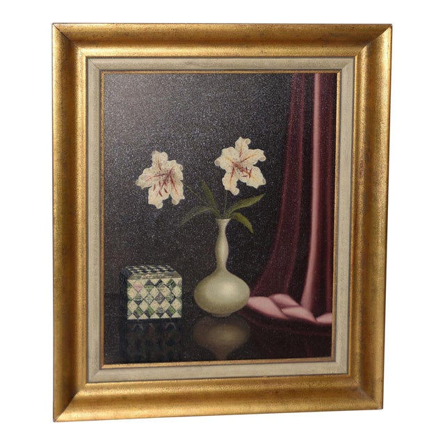 Tilly Moes (1899-1979) Still Life W/ Lilies C.1950 For Sale