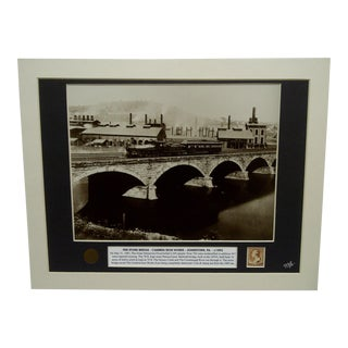 """Pennsylvania Railroad Stone Bridge - Cambria Iron Works"" Johnstown, PA Collage For Sale"