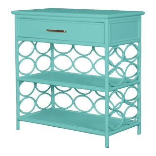 Infinity End Table - Turquoise For Sale