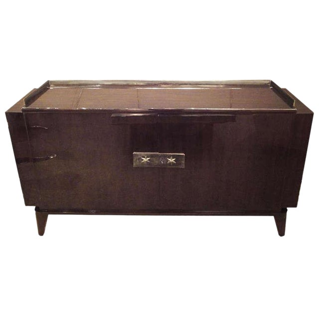 Andre Sornay Two Door Sideboard in Palisander and Bronze For Sale
