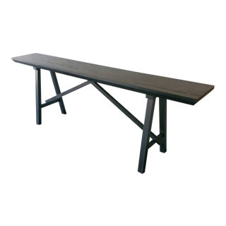 Ozshop Ebonized Trestle Tables For Sale