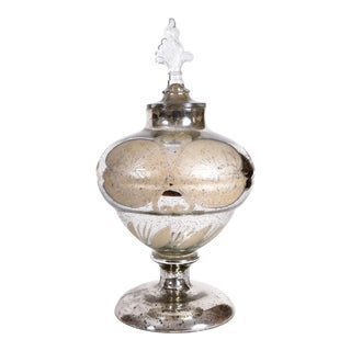 Mercury Glass Covered Decorative Vase For Sale