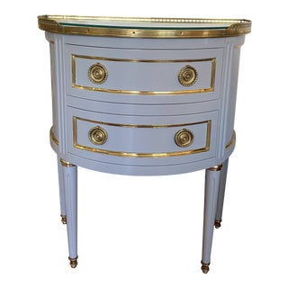 French Newly Lacquered and Brass Mid-Century Side Table For Sale