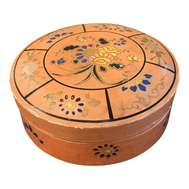 Hand Painted Paper Mache Box For Sale