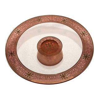 Vintage Pink & Gold Cake Plate