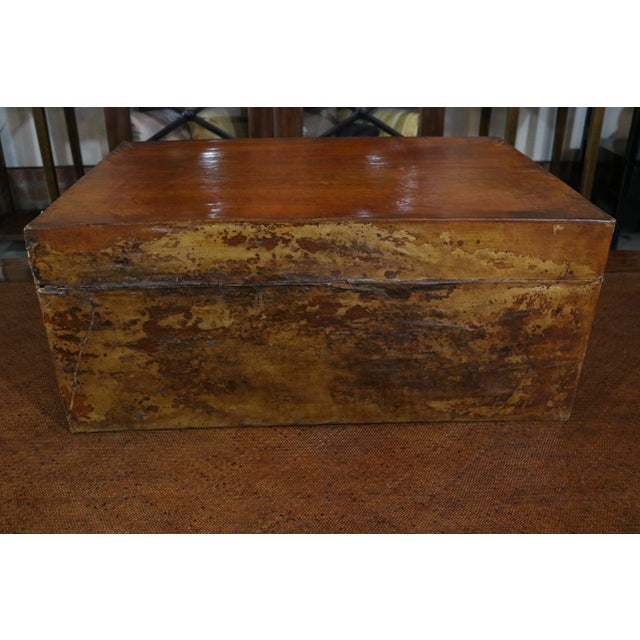 Asian Mid 19th Century Chinese Vellum Trunk For Sale - Image 3 of 8