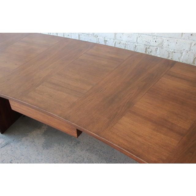 Brown Excellent Curved Top Walnut Harvey Probber Executive Desk For Sale - Image 8 of 14