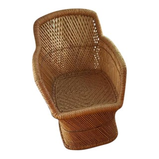 Vintage 1960s Rattan Chair For Sale