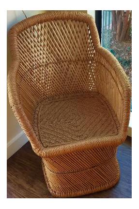 Vintage 1960s Rattan Chair