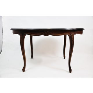 Vintage French Oval Queen Anne Cherry Wood Dining Table Circa 1940 Preview