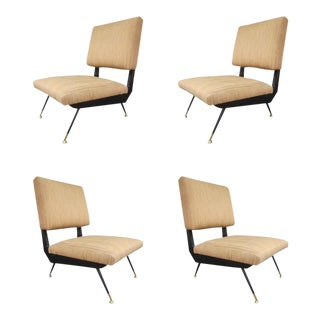 Four Chairs attributed to Ico Parisi, Italy 1960