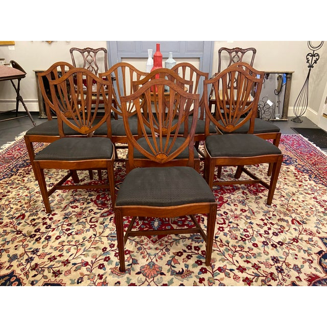 Traditional Early 20th Century Irving & Casson Dining Chairs - Set of 8 For Sale - Image 3 of 13