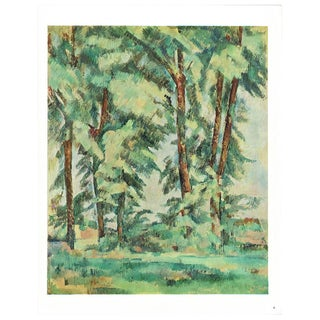 1940s Cezanne Big Trees at Le Jas De Bouffan Swiss Plate For Sale