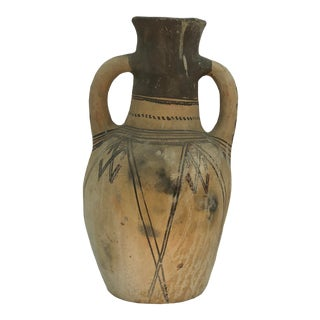 Vintage Primitive Terra-Cotta Moroccan Water Jar For Sale