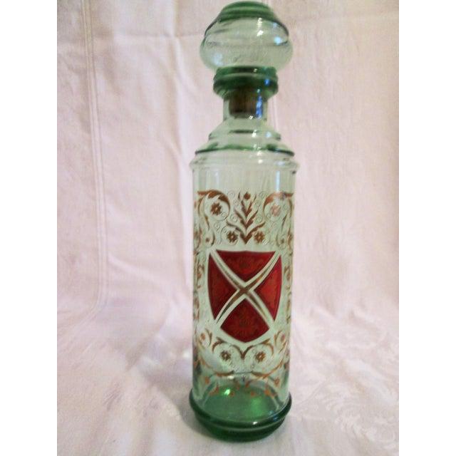 Green Glass Liquor Decanter Glasses - Set of 3 - Image 5 of 7