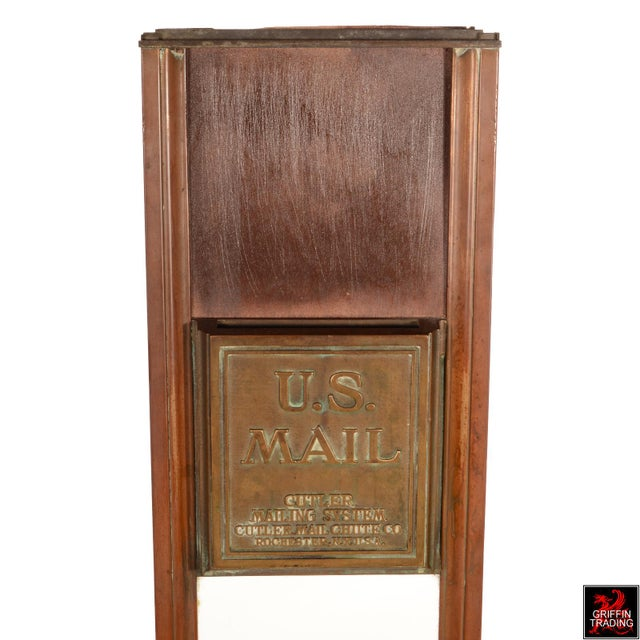 Antique Cutler Mailbox and Mail Chute For Sale - Image 9 of 11