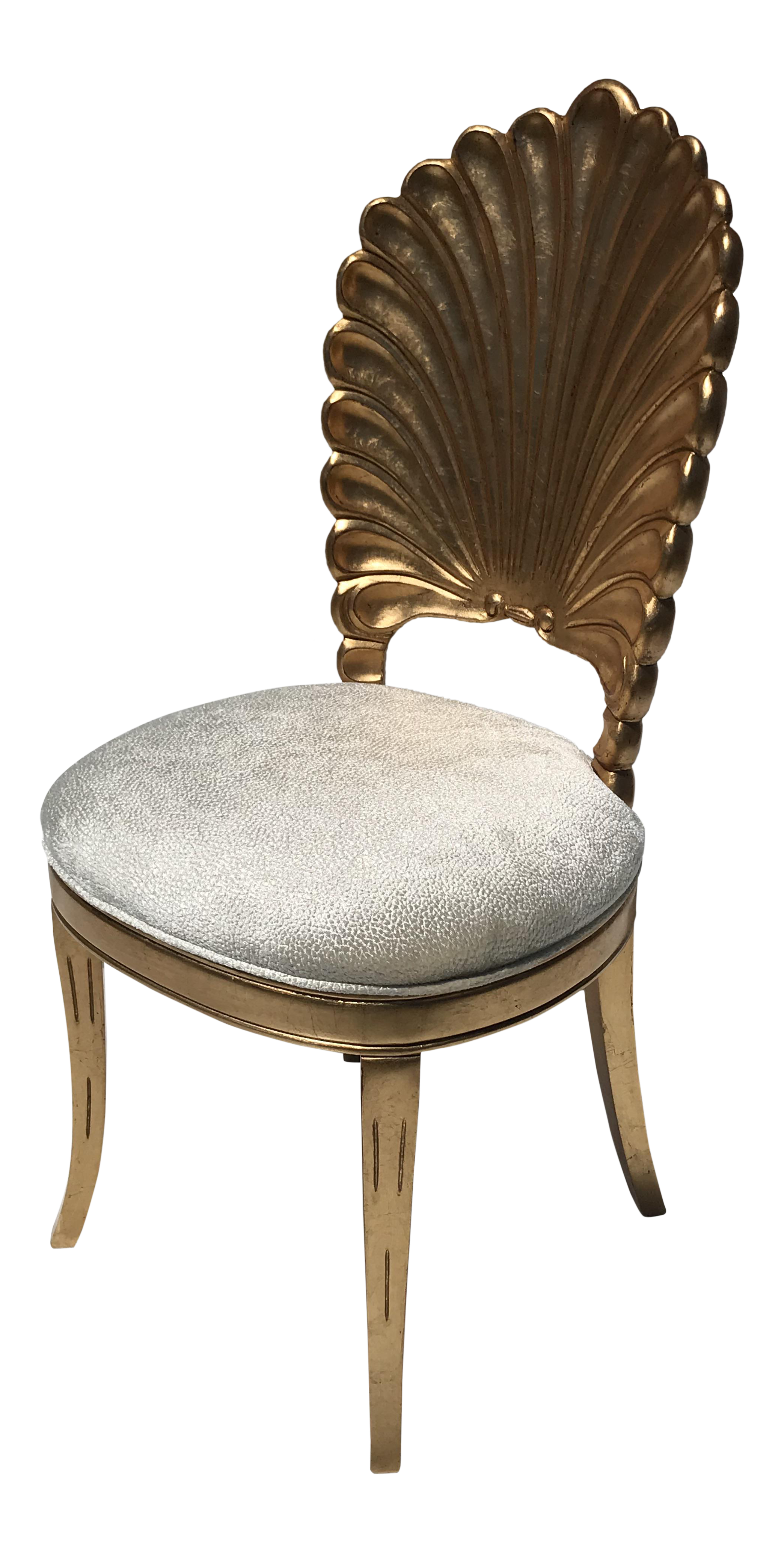 Gold Leafed Venetian Grotto Style Shell Chairs   Image 1 Of 10