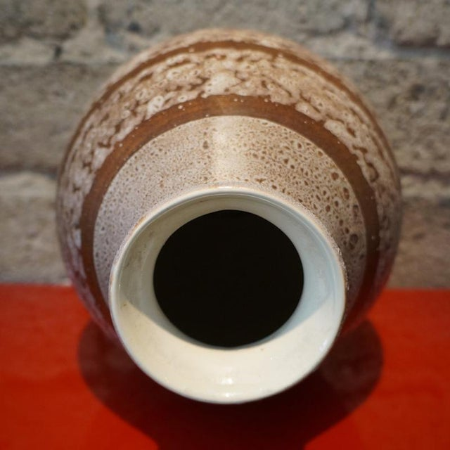 1920s Boch Freres Keramis Stoneware Vase For Sale In Los Angeles - Image 6 of 7