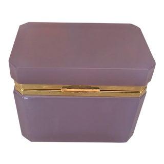 1960s Hollywood Regency Alexandrite Opaline Box For Sale