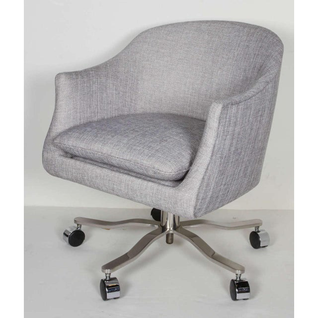 Mid Century Modern Swivel Desk Chair Designed By Ward Bennett Image 2 Of 7