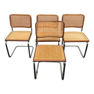 1970s Vintage Breuer Cesca Style Chairs - a Set For Sale