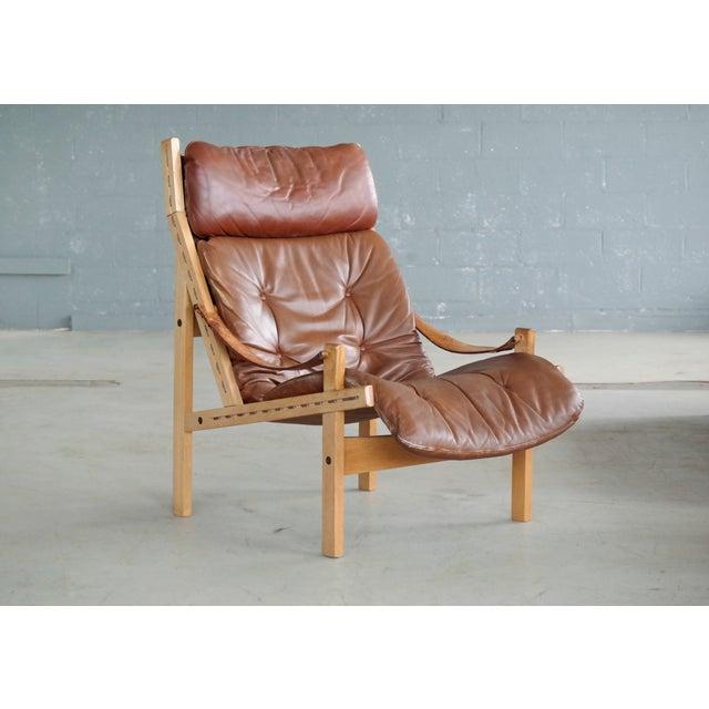 Mid-Century Modern Midcentury Easy Chair Model Hunter by Torbjørn Afdal for Bruksbo, Norway For Sale - Image 3 of 9