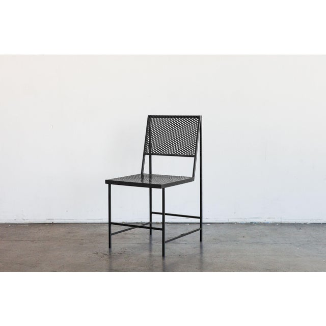 Flux Dining Chair in Black Oxide by The Foreman Brothers For Sale In Los Angeles - Image 6 of 7