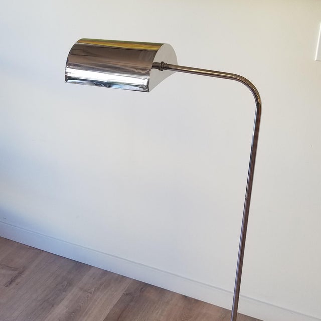 Chrome 1970s Fratelli Mannelli Travertine and Chrome Floor Lamp for Raymor For Sale - Image 8 of 13
