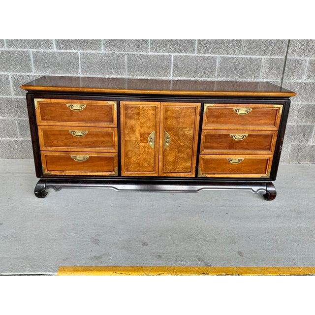 Vintage Oriental Nine Drawer Dresser For Sale - Image 13 of 13