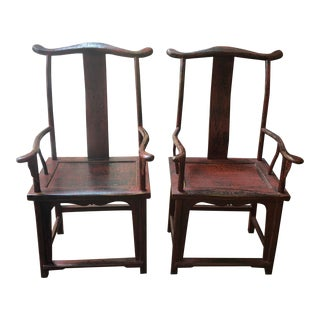Red Empire Chairs- a Pair For Sale