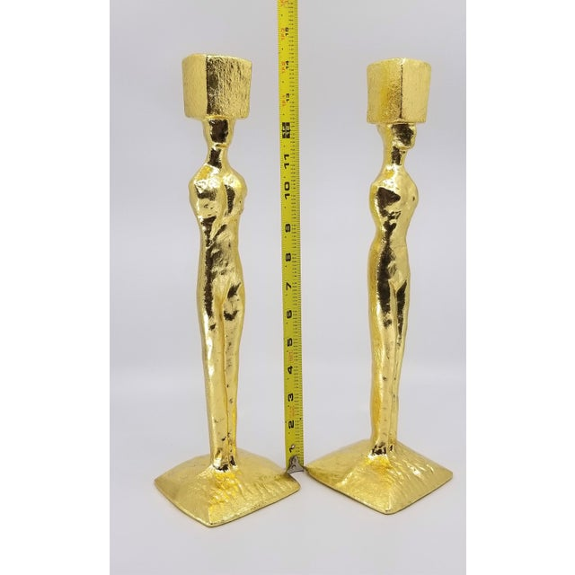 Mid Century Modern Candlesticks - Candle Holders - Giacometti Style - Restored For Sale - Image 4 of 13