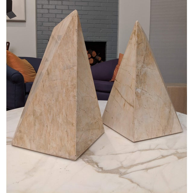 Geometric Marble Sculptures, a Pair For Sale - Image 9 of 9