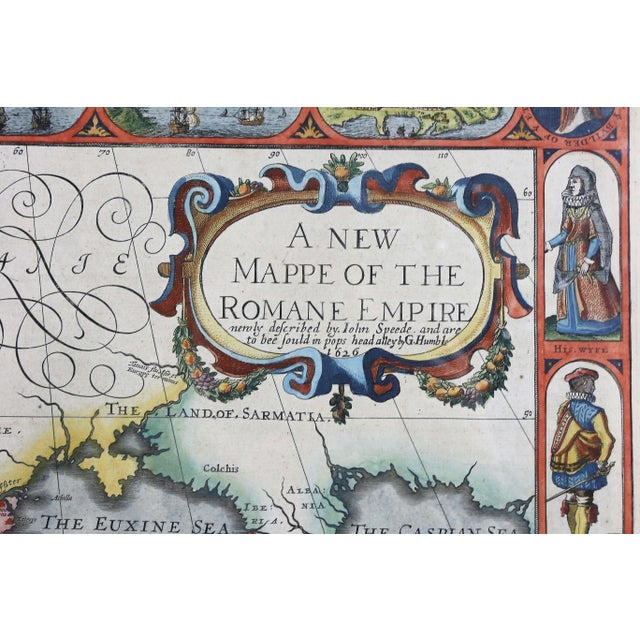 Traditional Framed Map of Roman Empire For Sale - Image 3 of 11