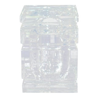 Faceted Alessandro Albrizzi Style Thick Lucite Ice Bucket